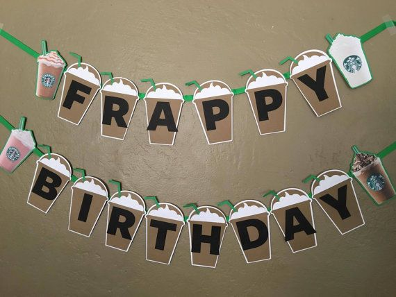 Welcome to Lollipop Party Creations  Add a great touch to your special celebration with a banner made by Lollipop Party Creations!! Each scalloped piece measures approx. 6 1/2 and is made from coordinating colored cardstocks. The banner is tied together with ribbons. Ribbon color may vary, but will always coordinate, due to availability.  ♥ This banner includes Frappy Birthday and four custom images- one on either end of the banner. ♥ Name Banners are available for an additional cost.  ♥...