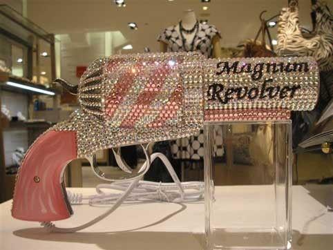 ;) Pink & White sparkle Magnum Revolver.