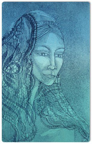 Bride Etching and Aquatint 2008