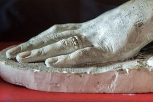 Castle Menzies ༺✿ plaster cast of Mary Queen of Scots' hand.
