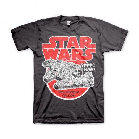 T-Shirt rendant hommage au mythique vaisseau de Han Solo et notamment à son arrivée héroïque lors de l'attaque de l'étoile noire.