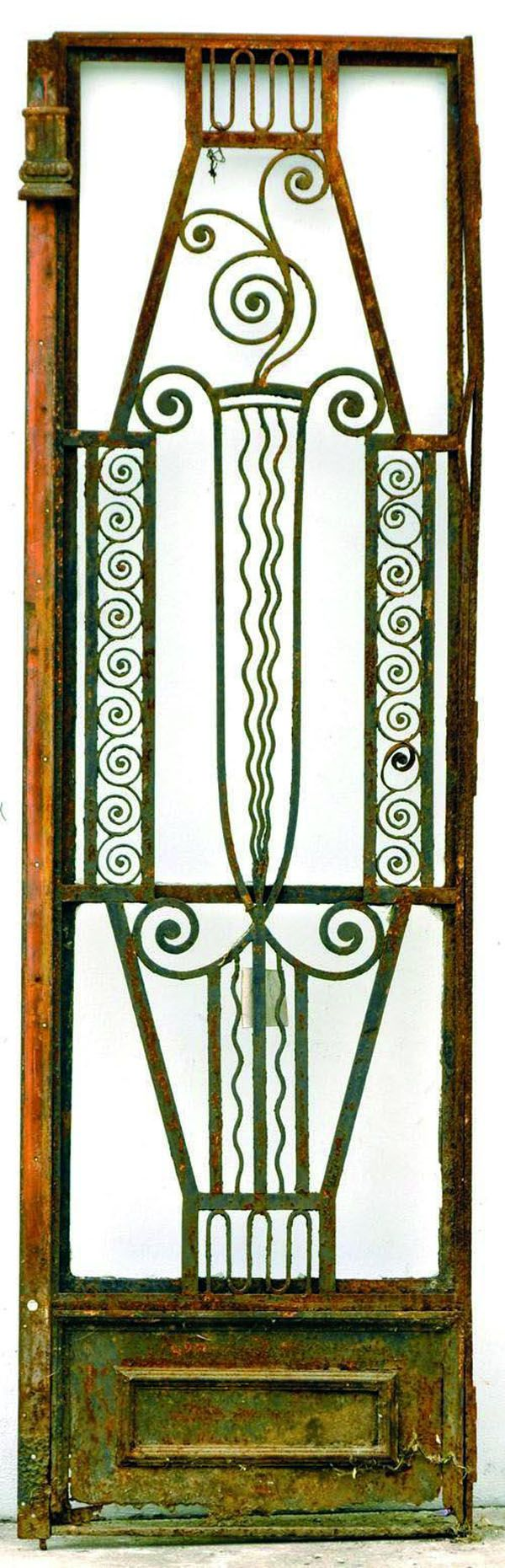 Pin antique garden gates in wrought iron an art nouveau style on - Image Detail For Art Deco Cast Iron Gate With Scroll Decorations Structural Gates