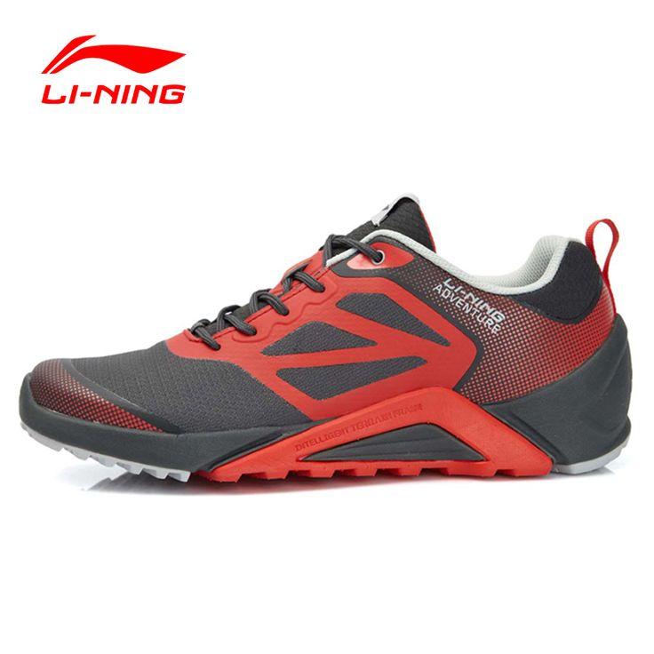 Li-ning hombres Trail Running Shoes Amortiguación Suave Transpirable Zapatillas de Deporte Al Aire Libre Zapatos Li-ning AEEL003 XYP404