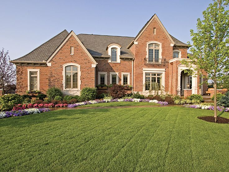 Arreton manor luxury home plan front luxury and for Luxury european house plans