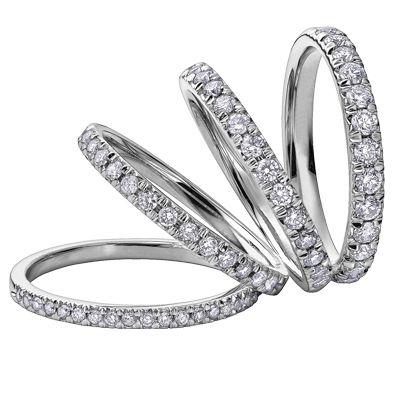 Diamond anniversary rings, starting at $299 #ZekesWishList