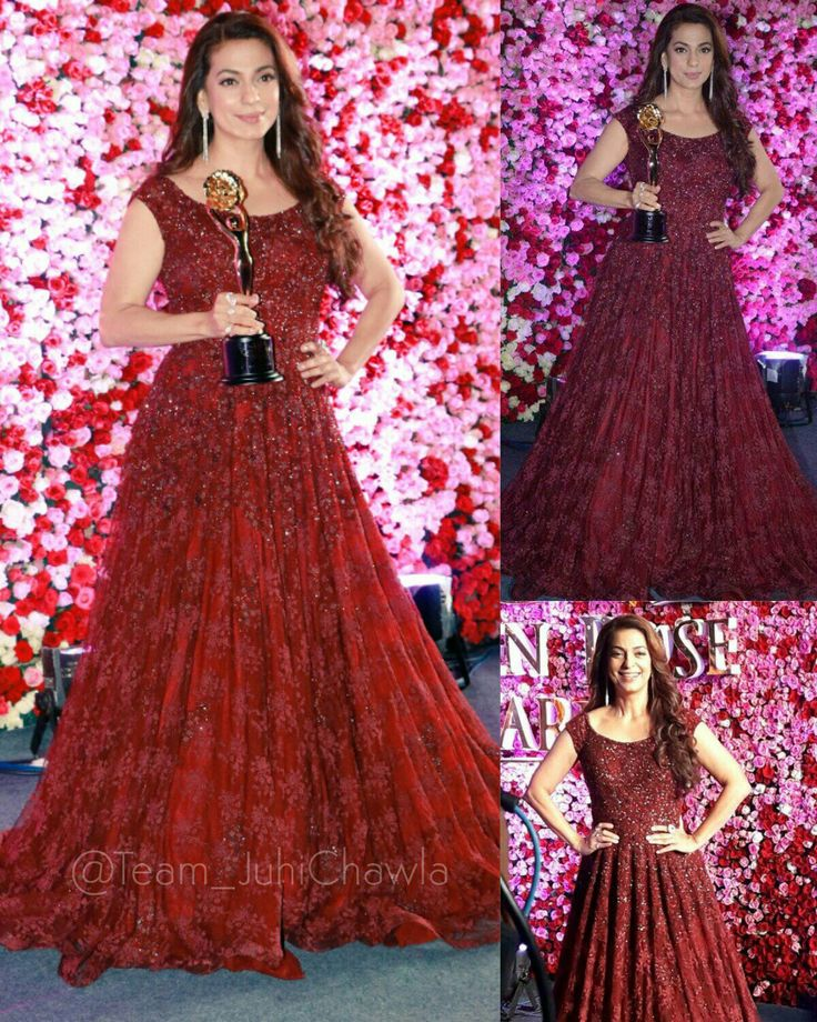 Bollywood actress juhi Chawla at lux golden rose awards red carpet