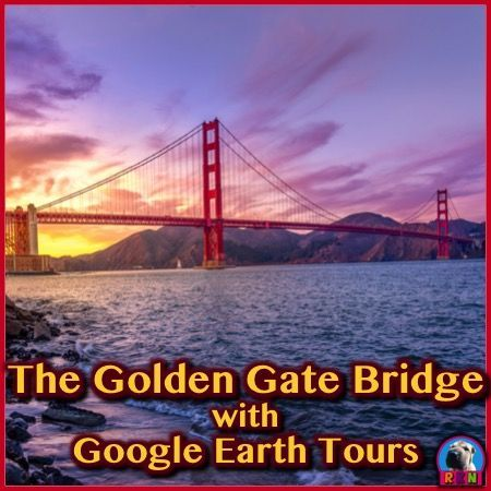 Tour the Golden Gate Bridge with Google Earth (03:29) Make a virtual field trip to one of North America�s most famous landmarks. You will be using Google Earth to watch a pre-recorded tour of the famous bridge that crosses the Golden Gate. The video lasts for 3 minutes and 29 seconds. It also comes with two PDF documents. One with fun facts and the other explaining what you are seeing in the video. by Ryan Nygren (photo by Umer Sayyam @ https://unsplash.com/photos/SHP1t8EduMY