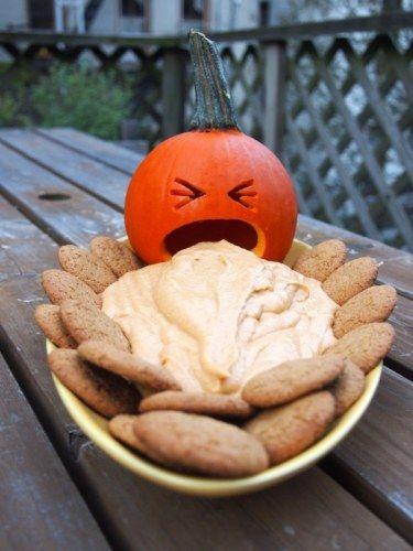 pumpkin dip! puking pumpkin optional.