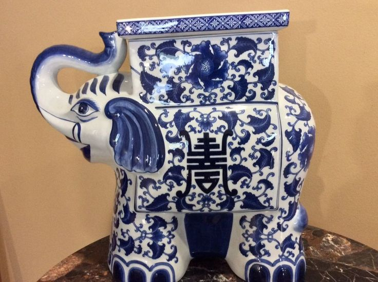 Bombay Large Porcelain Elephant Planter / Vase | Collectibles, Cultures & Ethnicities, Asian | eBay!