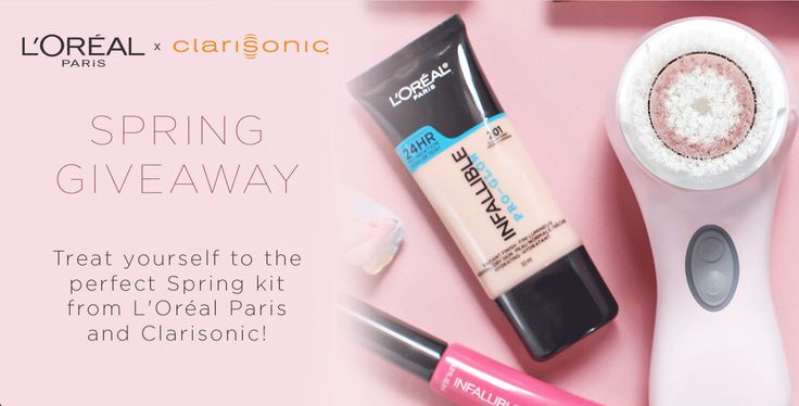 You and one of your friends could be the lucky winners of a Clarisonic Mia 2 and a L'Oréal Paris gift basket!