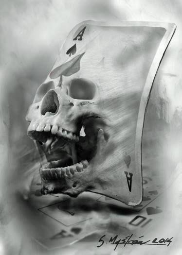 skull ace spades