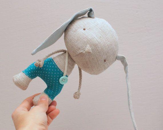 Handmade bunny, soft stuffed toy