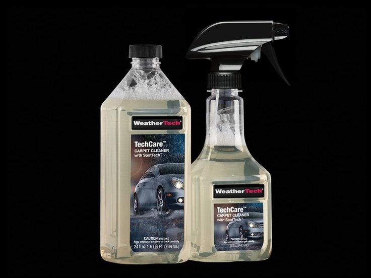 TechCare Carpet Cleaner with SpotTech is an accessible formula that helps eliminate organic and inorganic stains on nearly all automotive carpets and cloth interiors.