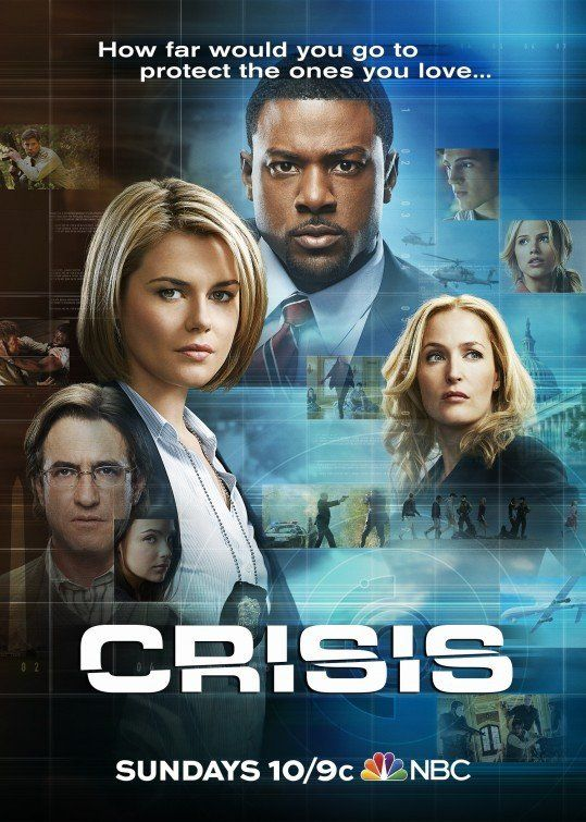 Crisis (TV Series 2014)  Centers on an idealistic Secret Service agent who finds himself at the center of an international crisis on his first day on the job. In his search for the truth, he will have to cross ... See full summary »  Creator: Rand Ravich Stars: Stevie Lynn Jones, Halston Sage, Adam Scott Miller | See full cast and crew »