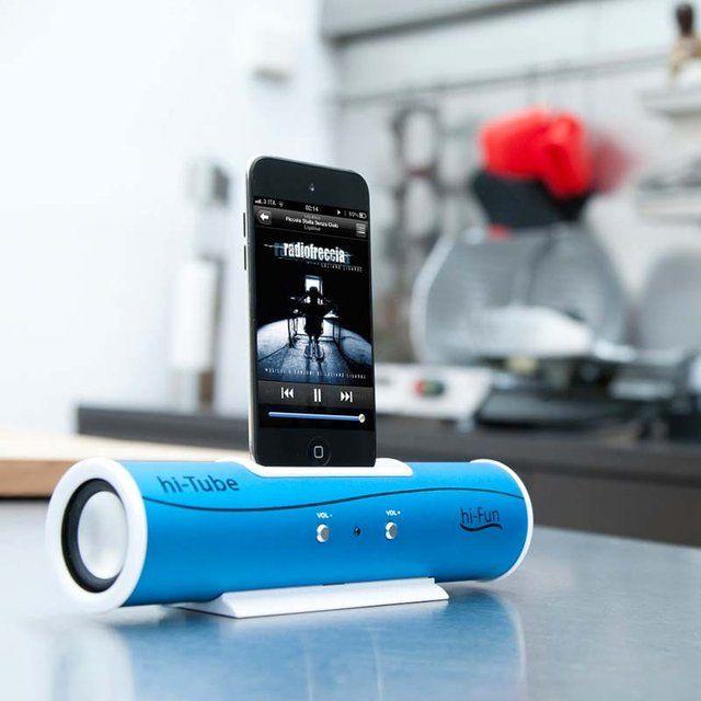 speakers for iphone. hi-tube speaker by hi-fun - a mini portable iphone, ipod speakers for iphone s