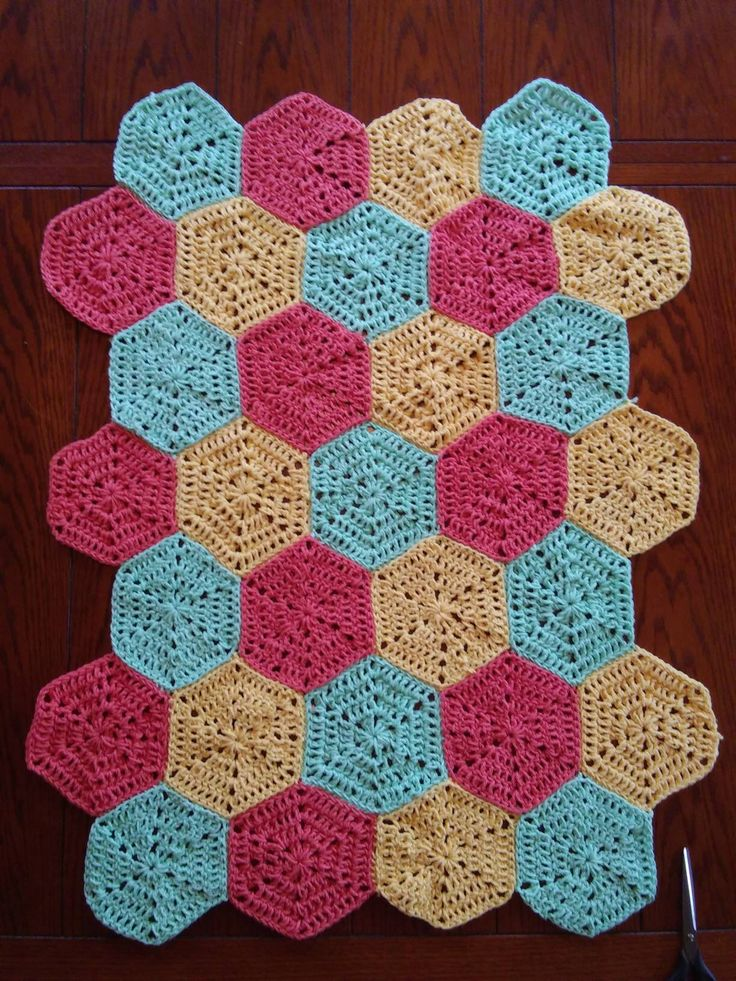 A personal favorite from my Etsy shop https://www.etsy.com/listing/603810053/crochet-hexagon-homemade-baby-blanket