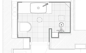 Drawing for bathroom - We draw and we build.  Find more info at www.flottebad.no