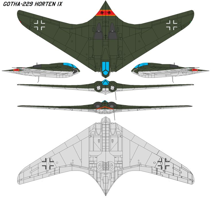 Gotha-229+Horten+IX+by+bagera3005.deviantart.com+on+@DeviantArt