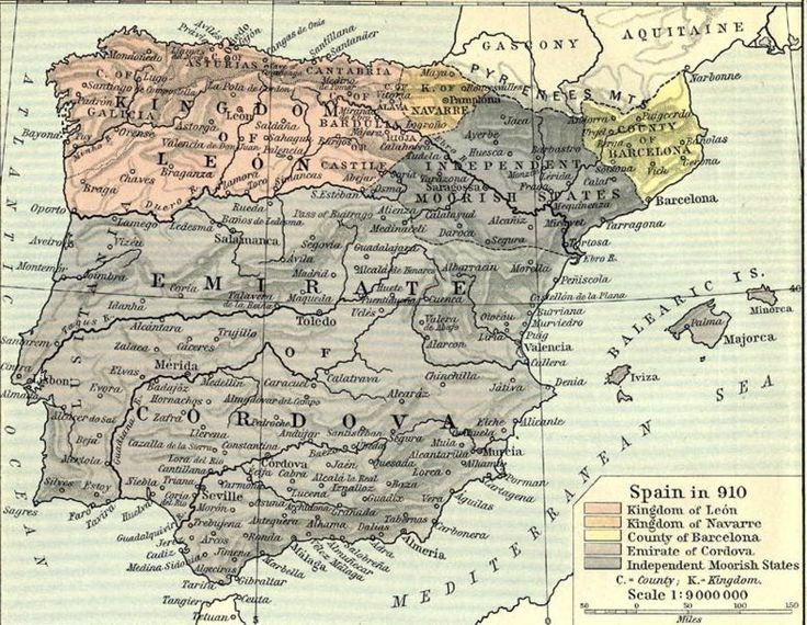 El Reino de León hacia 910