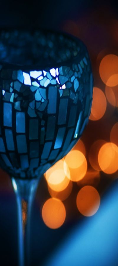 ~ blue and gold bokeh ~