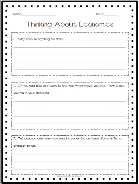 Economics Pretest Activate What Your Students Already Know