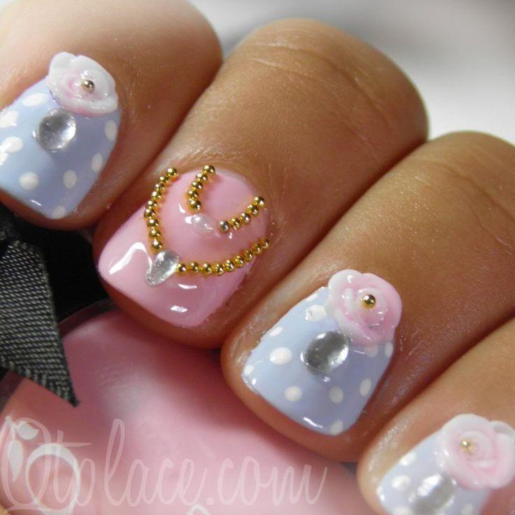 pretty little girl nail set - Little Girl Nail Design Ideas