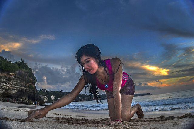 Sunset At Dreamland Beach, Bali