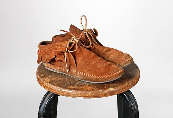 7aca931433d22 Vintage Brown Leather Minnetonka Booties- Ankle Boots Boot Tan Tie ...