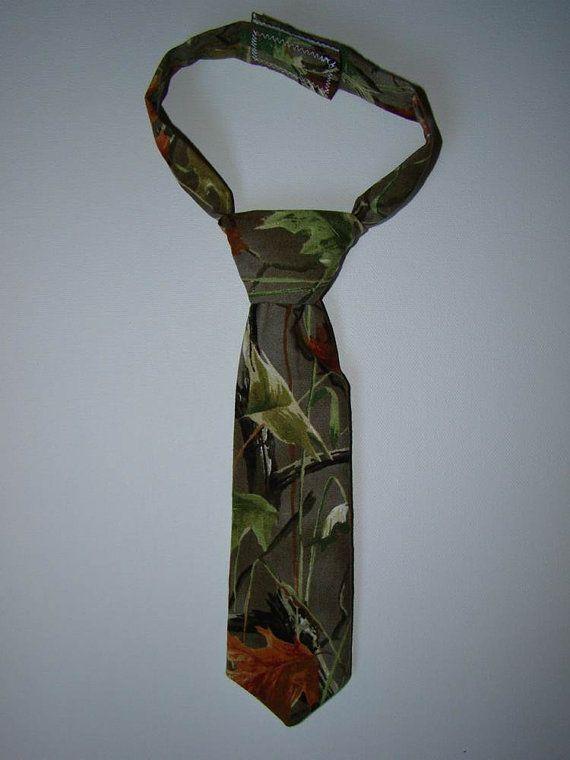 Realtree Camo Baby / Toddler Boy Tie with velcro closure. $8.00, via Etsy.