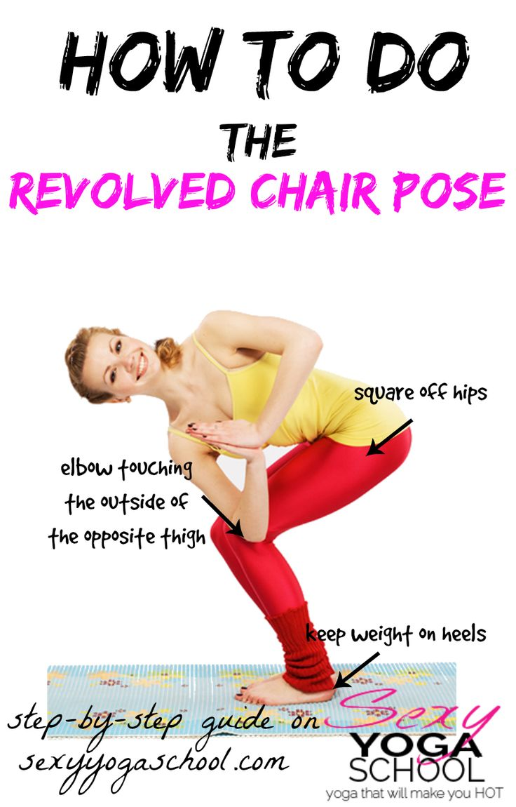 revolved chair pose guide