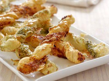 Pesto en tapenade kaasstengels - Voorgerechten & hapjes - Saclà recepten