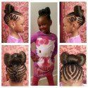 Natural Hair Styles For Children On Pinterest | Cornrows, Kid  Throughout Children Braiding Hairstyles Children Braiding Hairstyles Intended For   Provide Glamour
