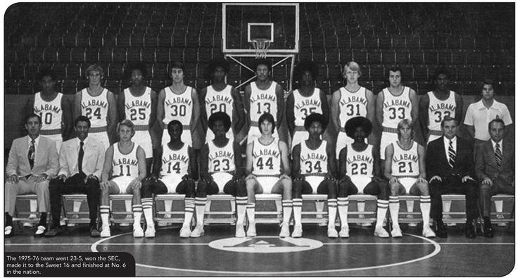 1975-76 Alabama Basketball Team Photo - Alabama SEC Players of the Year - from the Alabama Men's Basketball Media Guide #AlabamaMensBasketballMediaGuide #BuckleUp #Alabama #RollTide #Bama #BuiltByBama #RTR #CrimsonTide #RammerJammer