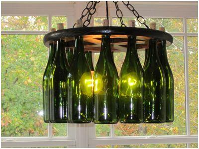 Wine bottle light fixture: Wine Chandeliers, Wine Bottle