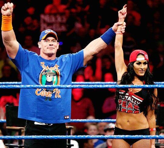 Nikki Bella and John Cena on Smackdown