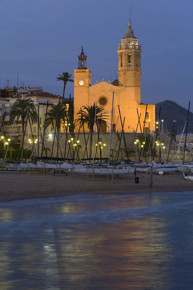 Playa La Fragata, Sitges, Barcelona Sitges being a popular wedding destination, very beautiful