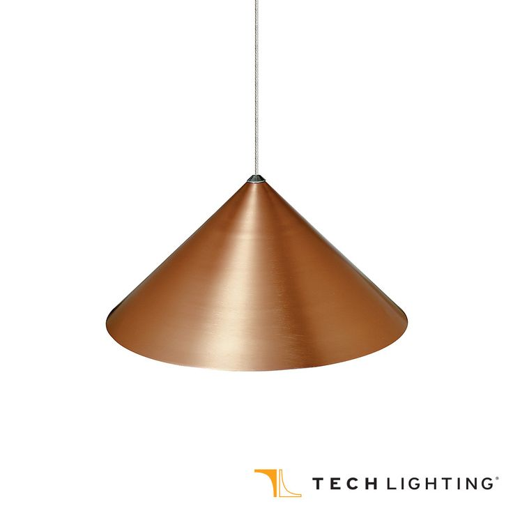"Tech Lighting Sky Pendant Light is a lightweight anodized copper pendant available in 8"" or 12"" diameter"