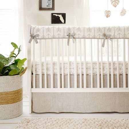 Crib Rail Cover | Arrow Be Brave Crib Baby Bedding Set
