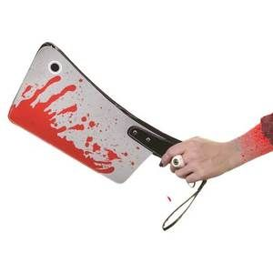 """Bloody Cleaver Clutch Bag--Perfect if the fashion statement you are trying to make is, """"I am a homicidal maniac!"""""""