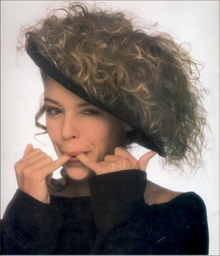 Kylie Minogue 80's I really wanted this hair and Hat !