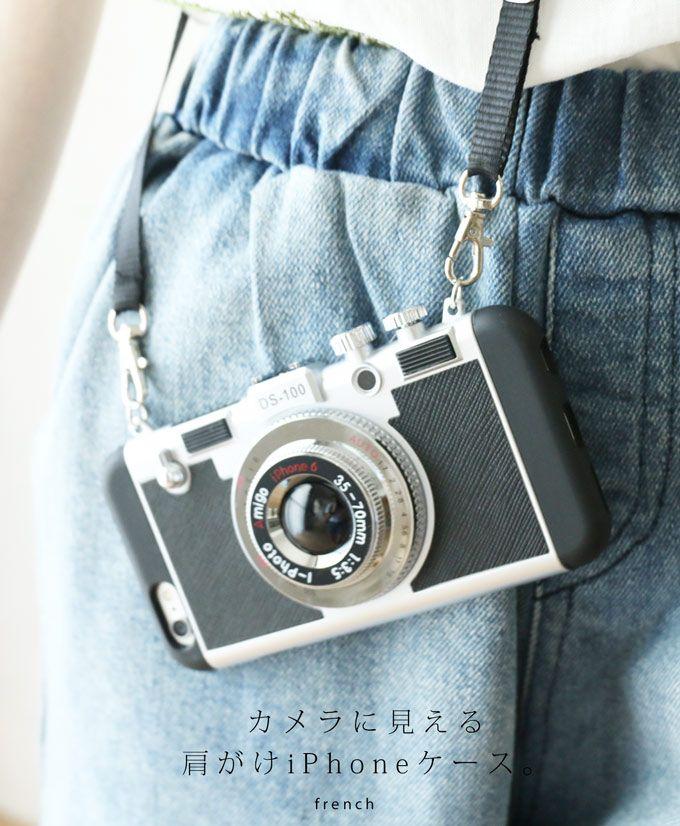 【楽天市場】8/25 22時から 残りわずか*「french」まるでカメラのように見える肩がけ 斜めがけ iPhone6/iPhone7 アイフォンケース:cawaii