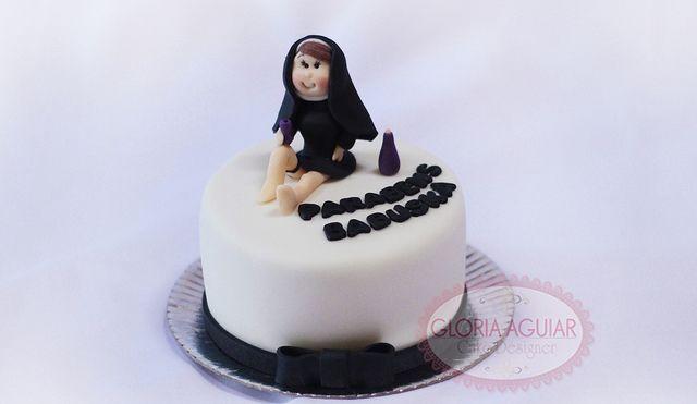 mini bolo freira sexy, cake