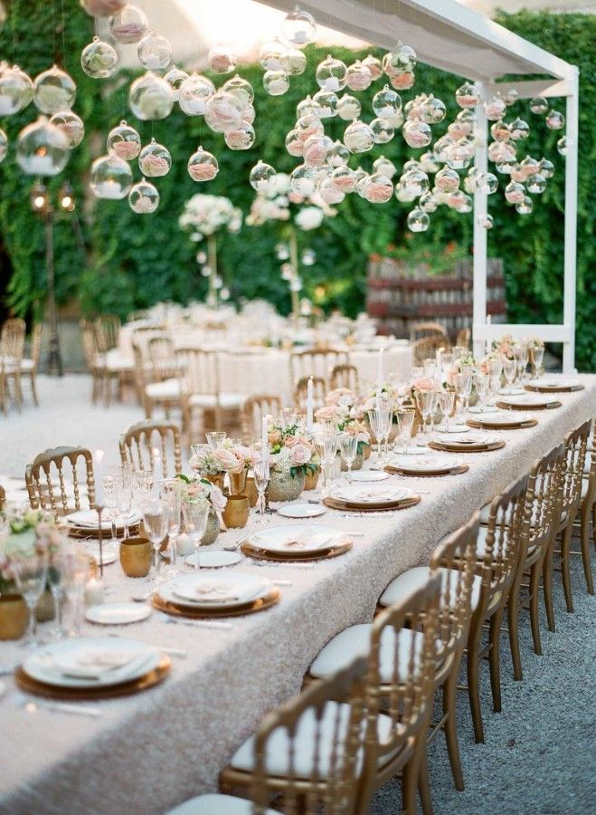Table decor that will have your guests gushing! http://www.stylemepretty.com/destination-weddings/france-weddings/2016/10/17/green-salmon-glamorous-destination-provence-wedding/ Photography: Greg Finck - http://www.gregfinck.com/