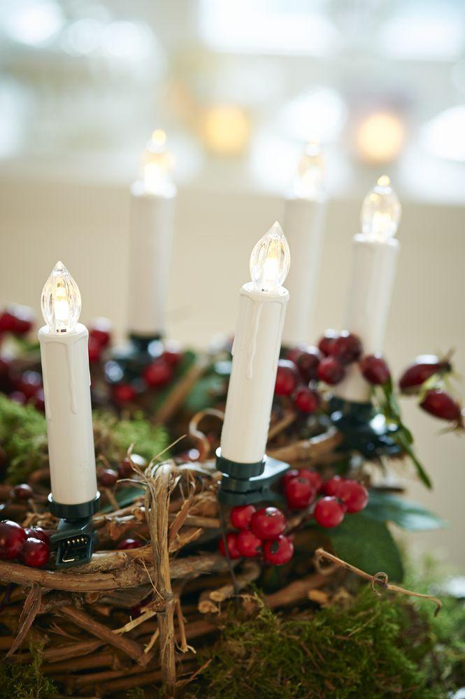 LED-Weihnachtsbaumkerzen zaubern ein gemütliches #Ambiente. Für €24,95 bei #Tchibo