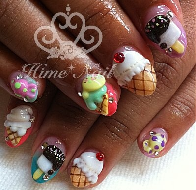 Ice Cream Cone Nails Www Himenail By Anese Nail Artist Located