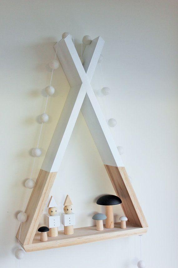 Tipi estante estantes blanco Room Decor Tribal por AhAhOnline
