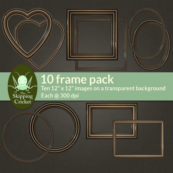 Antique bronze digital photo frames bronze by theskippingcricket