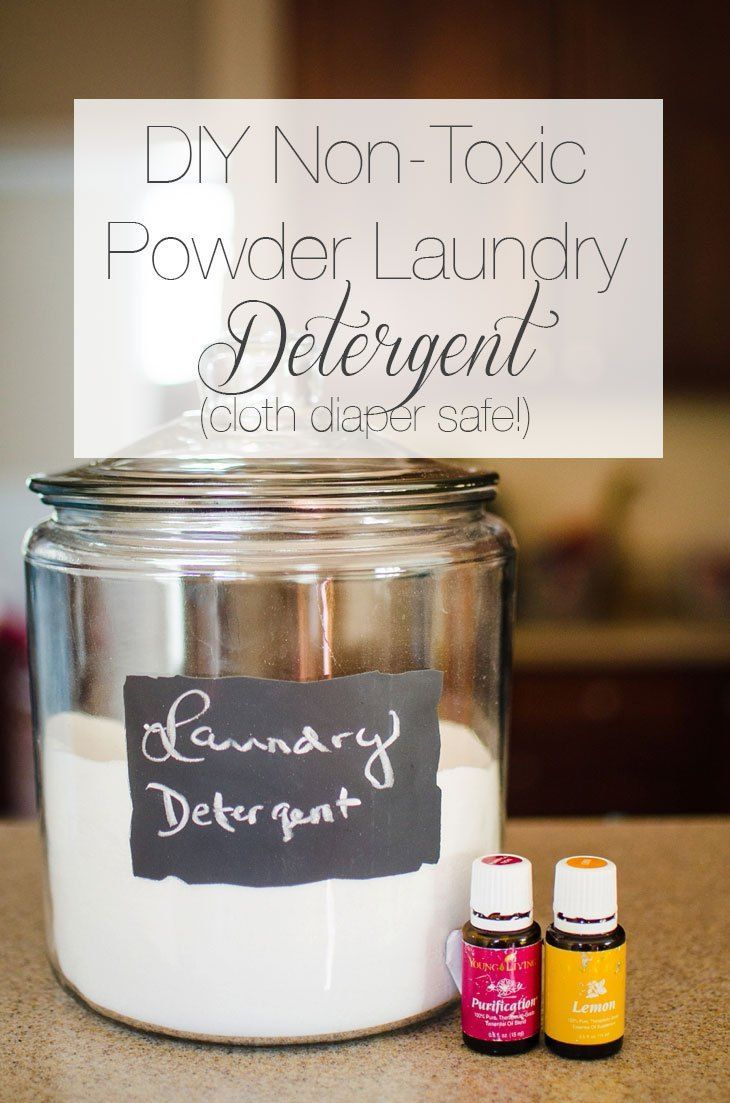 DIY Non-Toxic Powder Laundry Detergent (Cloth Diaper Safe!) with Young Living Essential Oils | Purification and Lemon (2)