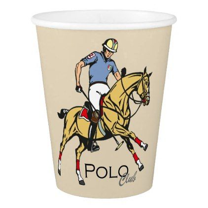 equestrian polo sport club paper cup - #customizable create your own personalize diy