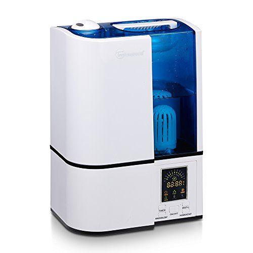 TaoTronics humidificateur ultrasonique d'intérieur à vaporisation, (mode humidité constant,contrôle niveau de brume, paramètres de…